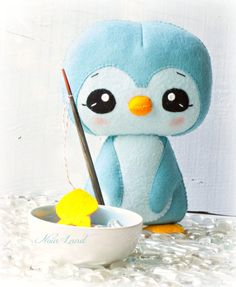 PDF. Penguin. Plush Doll Pattern Softie Pattern Soft by Noialand