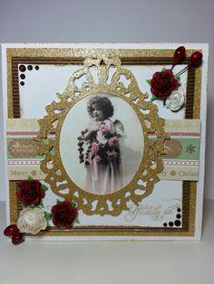 Angel with flowers Handmade Christmas, Handmade Cards, Christmas Cards, Angels, Frame, Flowers, Home Decor, Craft Cards, Christmas E Cards