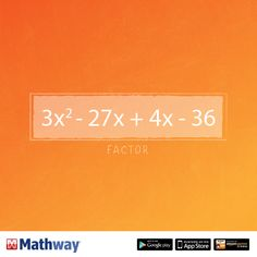 Factor the problem above and check your answer using our website!