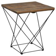 Emelle End Table - Rustic Industrial on Joss & Main