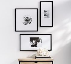 Shop Pottery Barn for expertly crafted gallery wall frames. Add a personal touch to any bare wall with gallery wall sets in stylish colors and materials. Bamboo Picture Frames, Hanging Picture Frames, Hanging Pictures, Picture Wall, Gallery Wall Frames, Gallery Walls, Custom Mats, A Frame Cabin, 6 Photos