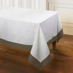 "Darby Home Co Sagan Linen Tablecloth Color: Khaki, Size: 60"" L x 144"" W x 1"" D"