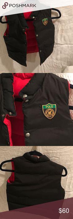 Polo vest Revisable black and red kids polo vest Polo by Ralph Lauren Jackets & Coats Vests