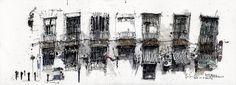 India House, Church Street Ghaut by Ch'ng Kiah Kiean ( I love this Artist, his powerful lines are amazing.....)