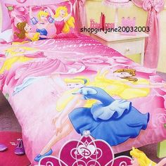 Disney Princess - Ballerina - Twin Bed Quilt Doona Duvet Cover Set | eBay