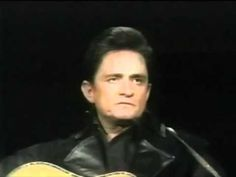 """Johnny Cash sings """"Man In Black"""" for the first time (with intro)"""