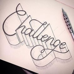 Hand lettering inspiration on a daily basis! Calligraphy and hand lettering for beginners we provide inspirational and educational content on the art . ,Hand lettering inspiration on a daily basis! Calligraphy and hand lettering for . Word Art, Hand Lettering For Beginners, Doodle Art For Beginners, Lettering Tutorial, Lettering Design, Cool Lettering, Graffiti Lettering, Brush Lettering, 3d Drawings