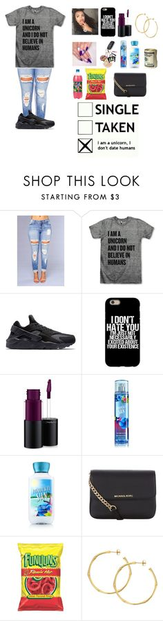 """Unicorn Life🦄"" by mz-nbt ❤ liked on Polyvore featuring Clayton, NIKE, MAC Cosmetics, MICHAEL Michael Kors and Dinny Hall"