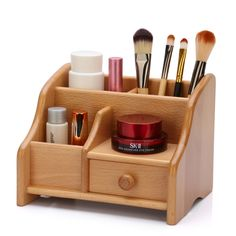 Wooden Storage Box for Toys Clothing Office Jewelry Tabletop Organizer