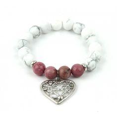 Náramek BEATRIX howlit  a rodonit Handmade Jewelry, Beaded Bracelets, Men, Accessories, Handmade Jewellery, Pearl Bracelets, Jewellery Making, Guys, Diy Jewelry