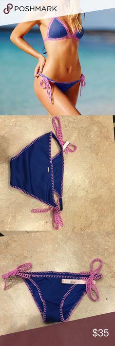 Victoria\'s Secret crochet bikini bottom. Beautiful brand new, unworn cheeky bikini bottom only. Size M. The side crochet can be tied as you desire. From the Victoria\'s Secret Surf Crochet collection. Offers are always welcomed  Victoria\'s Secret Swim Bikinis