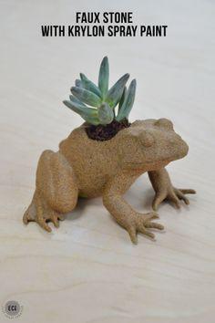 Faux Stone Succulent Planter