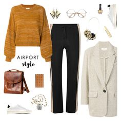 """""""Wanderlust Wonderful: Airport Style"""" by sproetje ❤ liked on Polyvore featuring Overland Sheepskin Co., Étoile Isabel Marant, Common Projects, Axiology, Anna Sui, MCM, ootd, WhatToWear, airportstyle and WearIt"""