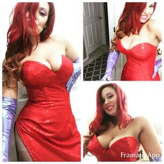 Jessica Rabbit homemade costume. I used Yaya Han corset pattern for extreme shaping.