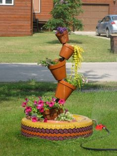 18 diy made of old tires you must see diy crafts pinterest decorao jardim solutioingenieria Images