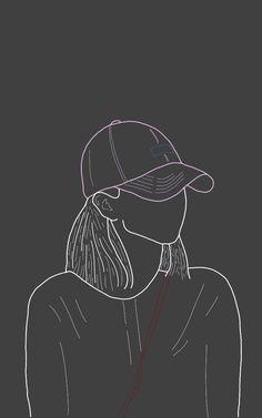 JEONGYEON Wallpapers Wallpapers, Cute Wallpaper Backgrounds, Cartoon Wallpaper, Aesthetic Drawing, Aesthetic Art, One Direction Drawings, Black Aesthetic Wallpaper, Phone Background Patterns, Digital Art Girl