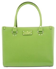 Love the color!  Kate Spade Wellesley Quinn Vine Green Leather Handbag