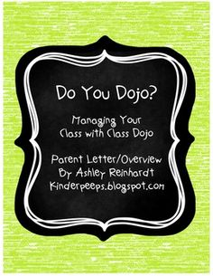 Class Dojo Overview for Parents! Great introductory letter/explanation for parents/teachers! Future Classroom, School Classroom, School Teacher, School Fun, Classroom Ideas, Organization And Management, Classroom Organization, Classroom Behavior Management, Behaviour Management
