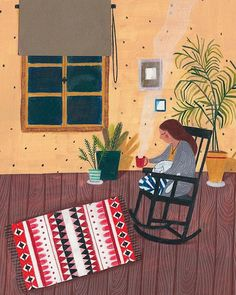 "629 curtidas, 8 comentários - Fotini Tikkou (@fotinitikkouillustration) no Instagram: ""Hygge ❤️ how I wish it was Friday... #gouache #colored #pencil #illustration #illustrator #art…"""