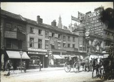 Manchester ? Lockharts Cocoa Room Dyson Watches Shops st Lantern Slide c1900