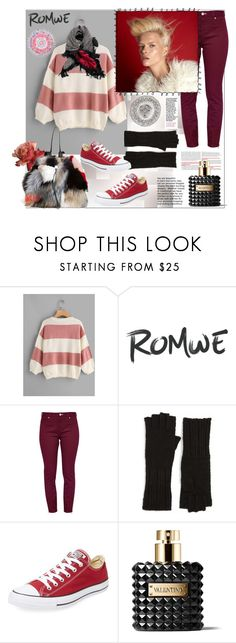 """Romwe"" by natalyapril1976 on Polyvore featuring Mode, Ted Baker, Olsen, Nick Fouquet, Halogen, Converse, Valentino und MANGO"