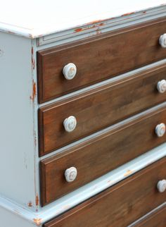 DIY Chalk Paint and tea stained Dresser