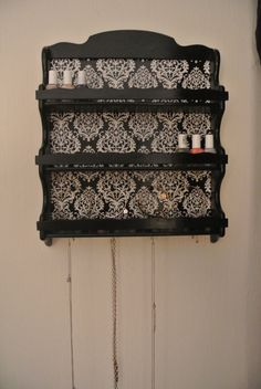 Nail Polish Storage Shelf by on Etsy. I wouldn't use it for nail polish though Diy Organizer, Home Projects, Craft Projects, Nail Polish Storage, Arts And Crafts, Diy Crafts, Beauty Room, Home Organization, Organizing