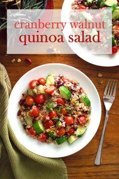cranberry walnut quinoa salad low fodmap