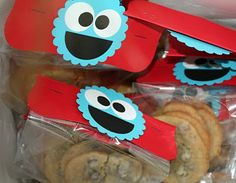 Cookie Monster Cookie Party Favors