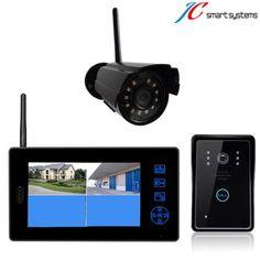 syst/ème de s/écurit/é 2 cam/éras de Surveillance kit de syst/ème de s/écurit/é UE Garsent Interphone vid/éo Filaire avec /écran de Porte TFT LCD de 7 po avec Sonnette