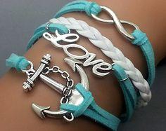 Infinity Bracelet Charm Love Bracelet Anchor Bracelet Combination Bracelet Antique sliver Star Bracelet Cute Personalized Bacelet on Etsy, $5.99
