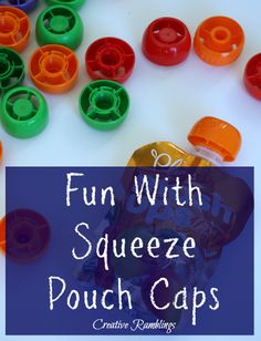 Fun activities you can do with squeeze pouch caps