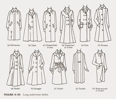 LONG OUTERWEARS... Alternatives for custom orders...  Memorizing the Style Features