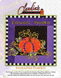http://www.claudiascreationsaz.com/cc/wp-content/uploads/2011/07/e-pumpkin.jpg Machine Embroidery Applique Wall Hanging I'm teaching @ The Panguitch Quilt Walk (Utah) in June