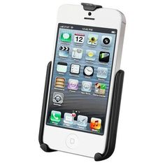 RAM Mount Apple iPhone 5 and 5s Cradle Only. RAM Model Specific Cradle f/Apple iPhone 5 and 5s Without Case, Skin, or SleeveDescription:The RAM-HOL-AP11U consists of a high strength composite cradle and hole pattern that will allow the attachment to all RAM components or mounts that contain the universal AMPs hole pattern. Compatible and interchangeable with a wide range of popular RAM Mounting products, this cradle is ready to compliment your iPhone and become the most useful accessory…
