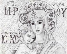 Το θαύμα μιάς μικρής ασπρόμαυρης εικονίτσας! - ΒΗΜΑ ΟΡΘΟΔΟΞΙΑΣ Orthodox Icons, Mother Mary, Religious Art, Christian Faith, Holy Spirit, Gods Love, Madonna, Christianity, Disney Characters