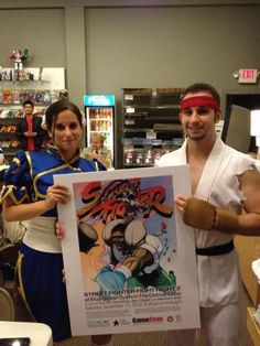 Our local comic book shop had a anniversary party and the sushi place across the street hosted a street fighter tournament. My bf and I in Ryu and Chun Li  cosplay. It was so much fun! :3