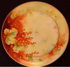 Haviland Limoges Fruit Plate - Values and Prices for a Haviland Limoges France Fruit Plate Artist Signed La Rue and D'Arcy's Hand Painted❤❤❤