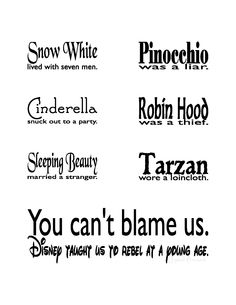 Disney is a bad influence. ;)