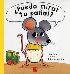 ¿Puedo mirar tu pañal? - Guido van Genechten  La enorme curiosidad de Ratón por conocer todo aquello que está a su alcance le lleva, incluso, a indagar debajo de los pañales de sus amigos.   #NovedadesBibliotecaPozoCañada