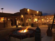 The signature restaurant of the Bab Al Shams Resort is a 60 minute drive from Dubai airport, in a resort hidden amongst and surrounded by sand dunes, giving the image of an isolated oasis.