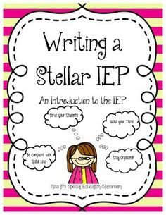 All the Information you need to write a Federally Compliant and Individualized IEP for your Special Education Students! 18 Pages INCLUDES: What is an IEP? Progress Monitoring Information Data Tracking INformation Present Levels Information Writing IEP Goals INformation Accommodations Information Modifications Information Service Time Information Prior Written Notice Information Additional Information Procedural Safeguards Information