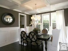 Love the wall color - consider for dining room - neutral, yet different from the hall and LR.