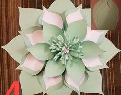 PDF Paper Flower Template Digital Version Including The Base