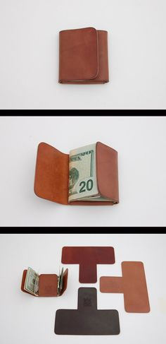 Vabljeni k ogledu izbranih modelov ženskih in moških denarnic po najnižjih… Leather Art, Leather Design, Leather Tooling, Crea Cuir, Diy Wallet, Cash Wallet, Simple Wallet, Wallet Tutorial, Handmade Leather Wallet
