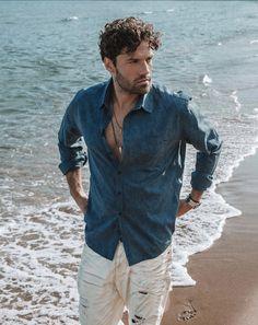 Denim Button Up, Button Up Shirts, Tops, Fashion, Moda, La Mode, Chemises, Shell Tops, Fasion
