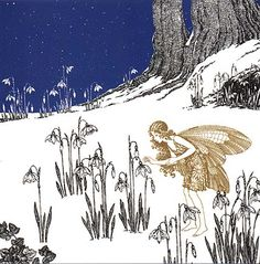 FirstSnowdrop-Art by Ida Rentoul Outhwaite