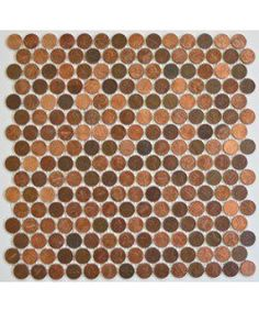 Real Penny Mosaic Tile Heads Tails Mix | Modwalls Designer Tile