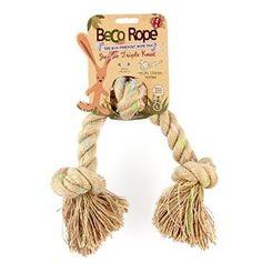 Il BecoRope Nodi è il giocattolo perfetto per lunghe distanze di lancio. Prodotto a base di un mix di cotone e canapa, è al 100% naturale. La canapa è durevole, non tossica e sostenibile e rende la corda più sicura per il vostro cane e per l'ambiente. La canapa aiuta anche a pulire i denti del vostro cane!