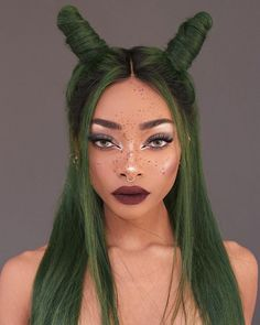 Hottest Free of Charge green wig Strategies Natural splendor hairpieces provide the most basic look in addition to feel. Even though these people could possibly be Pretty Hairstyles, Wig Hairstyles, Curly Hair Styles, Natural Hair Styles, Green Wig, Green Hair Streaks, Hair Reference, Neon Hair, Aesthetic Hair